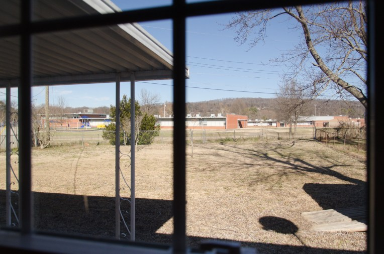 From the master bedroom window, you can keep an eye on everything going on in the back yard.
