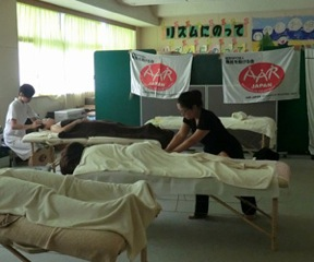 AAR brought therapists to provide caregivers with massages and aromatherapy.