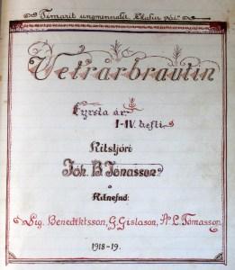 Forsíða Vetrarbrautarinnar 1918-1919