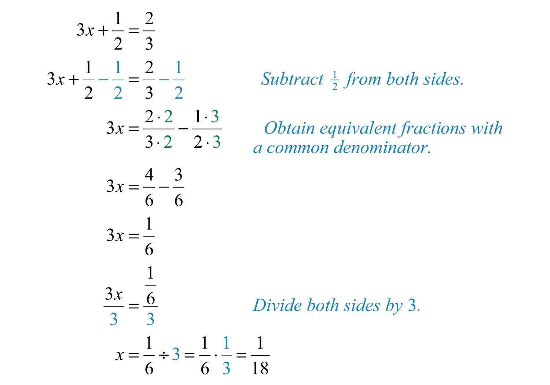Solving Linear Equations Part I