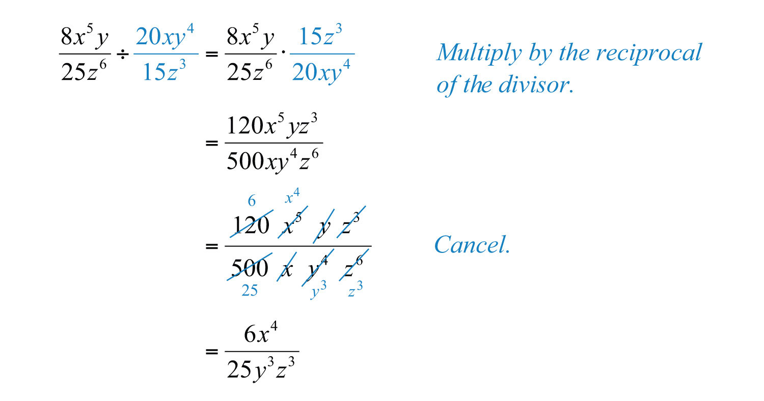 Multiplying And Dividing Rational Expressions