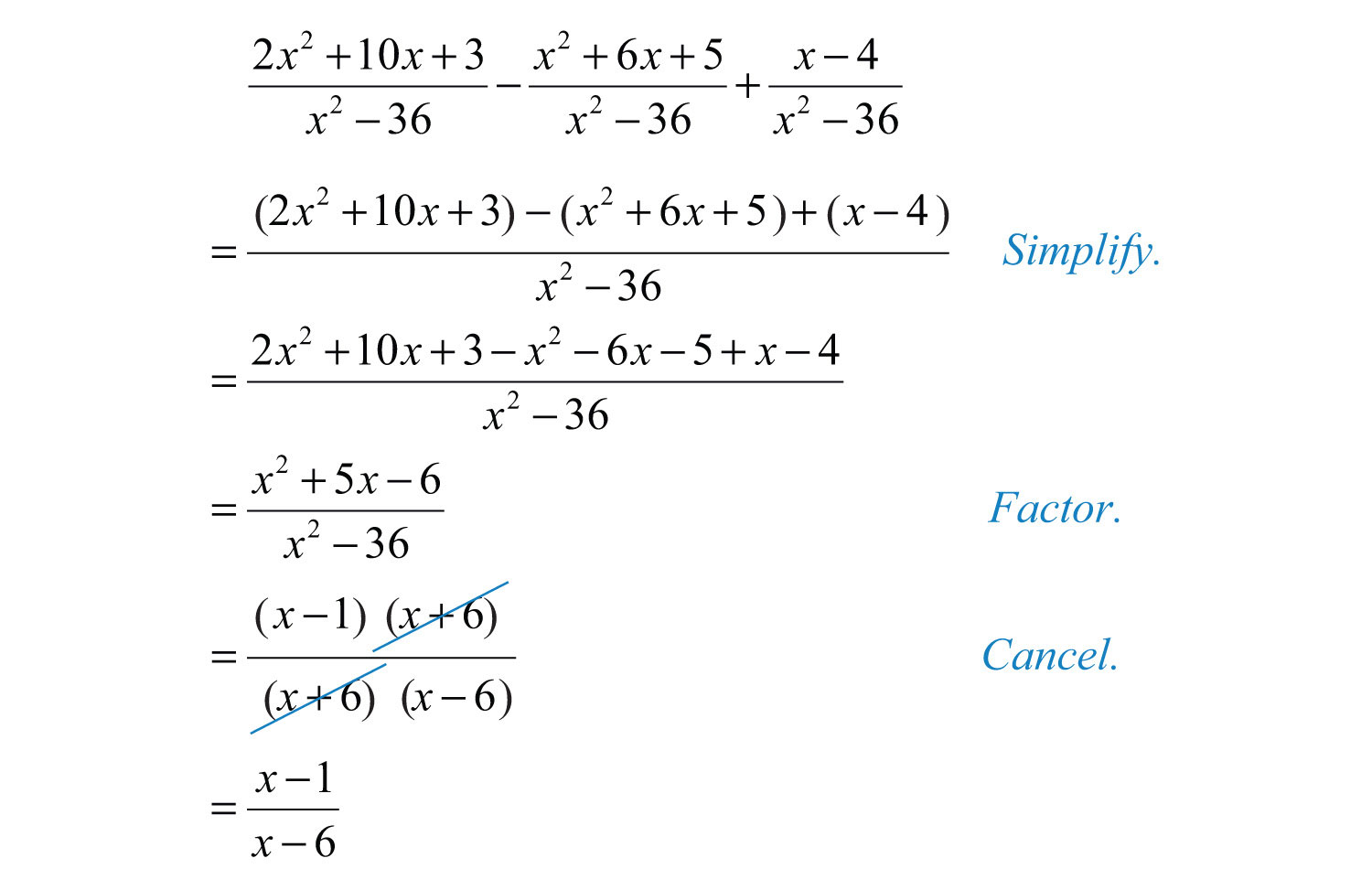 Addition Of Rational Expressions Worksheet