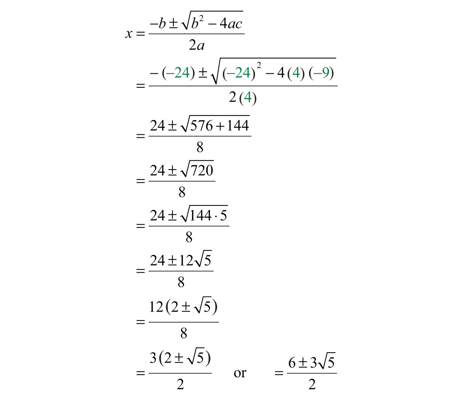 Solving Quadratic Equations And Graphing Parabolas