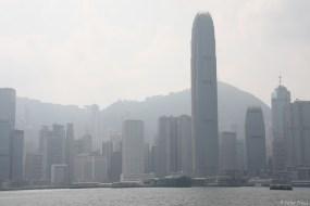 Vom Ufer der Blick auf Hongkong Island, Hongkongs Geschäftszentrum