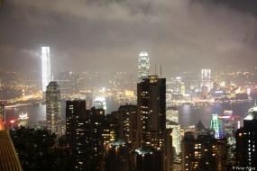 Vorne Hongkong Island, hinten Kowloon