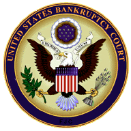 Seal of the United States bankruptcy court. Ch...