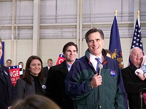 Mitt Romney at one of his presidential campaig...