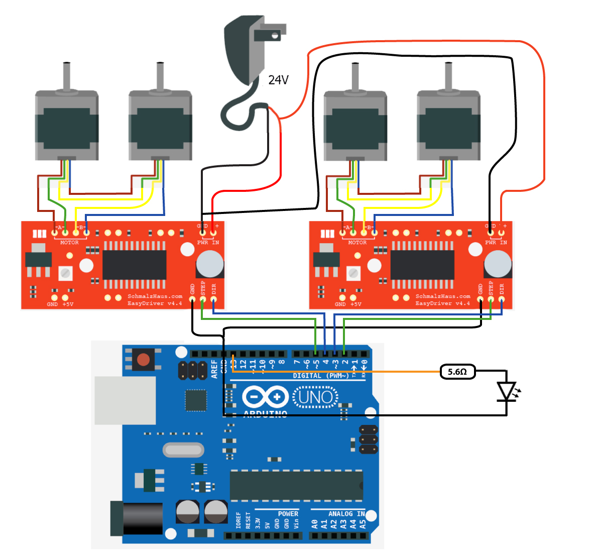 hight resolution of wiring the circuits