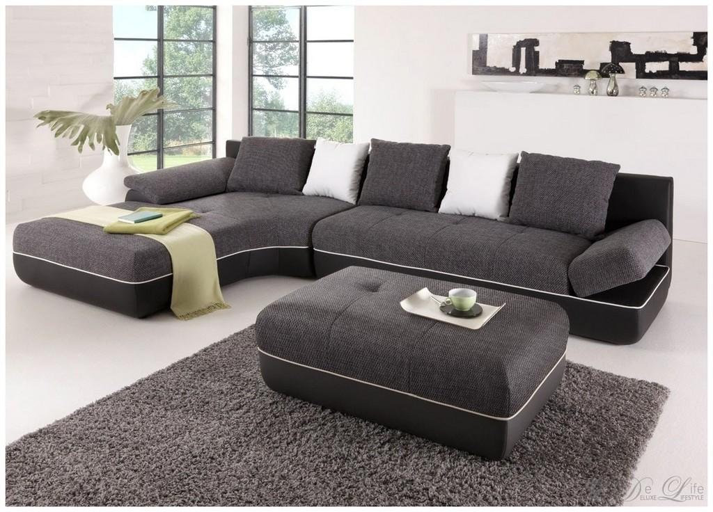 Sofa Mit Ottomane Links Und Schlaffunktion Sofahusse Ecksofa Mit