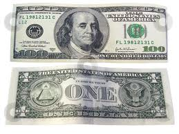 money front back