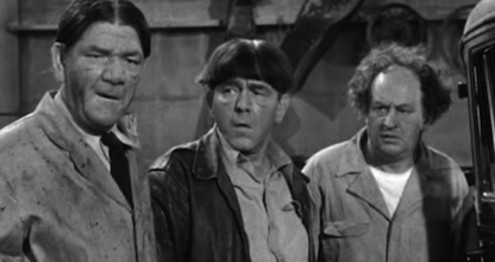Image result for the three stooges pardon my backfire