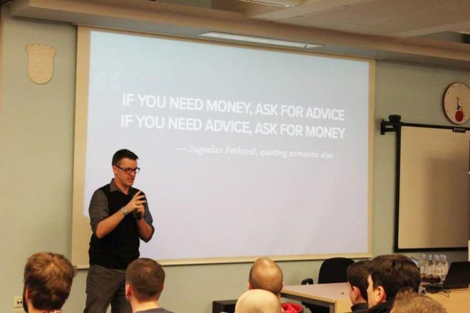 Tomaž Zaman talks on our Zagreb Meetup