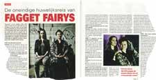 Fagget Fairy's got a two-page spread in the Belgium magazine Guido.