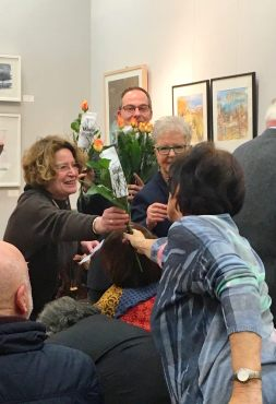 AG Kunst im Viertel zur Ausstellung im Februar 2016. Quelle: Archiv M. Geißler