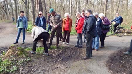 AG Natur und Umwelt lernen alles über die Femelungen im Auwald. Quelle: Archiv M. Geißler