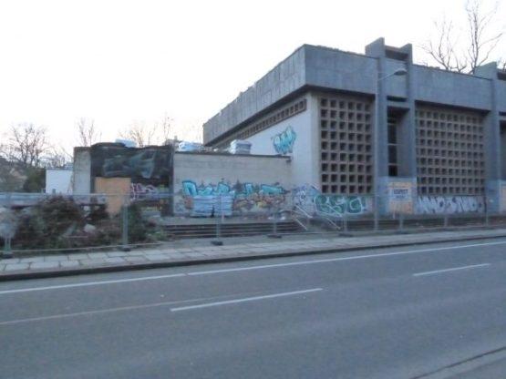Abrissarbeiten in der Emil-Fuchs-Straße