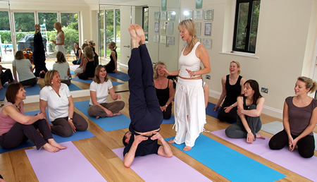 Group Yoga Class In Weybridge