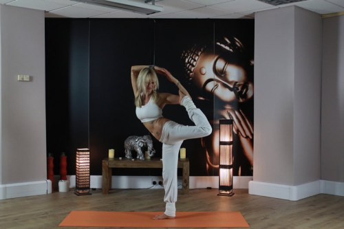 Bound Dancers Yoga Pose in Woking Studio