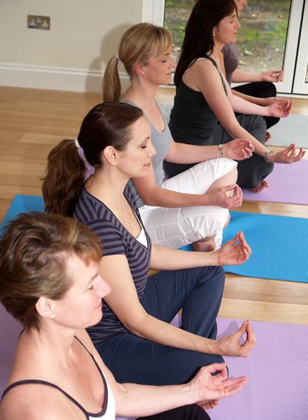 Class Meditation at Yoga Class in Weybridge