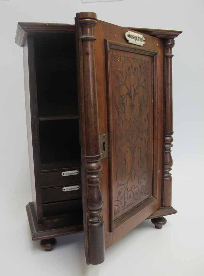 Antique DUTCH Locking 5 Drawer Footed Medicine Chest