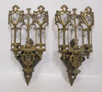 Antique Pair Eastlake Victorian Gothic Brass Candle Wall ...