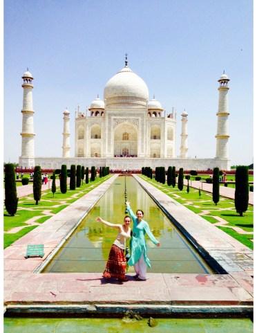 Ariana and Morgan at the Taj Mahal.