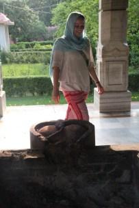 Morgan at the Varanasi Temple