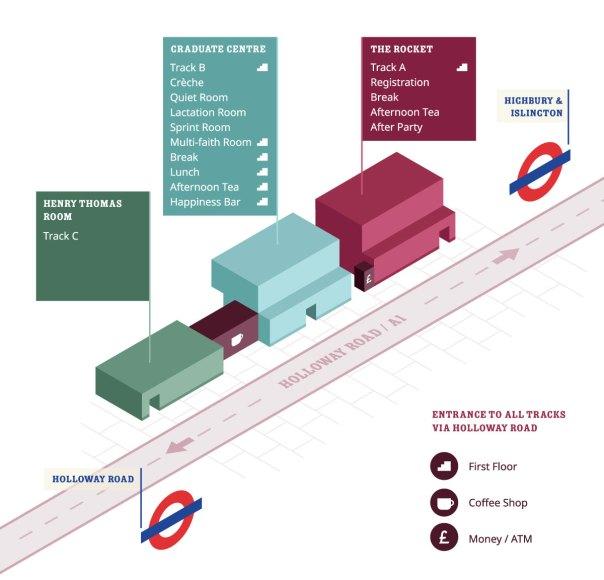 WordCamp London Venue Map
