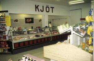 Kjötborðið í Kaupfélaginu Höfn.