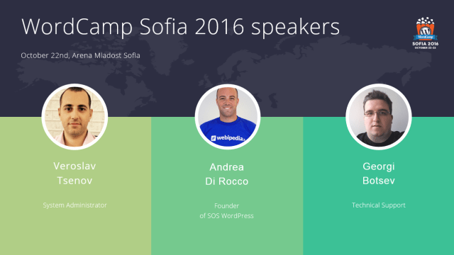 WCSof speakers - group 3