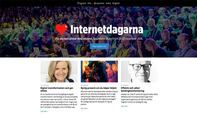 Internetdagarna.se - proudly running on WordPress