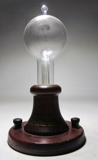 Vintage Portable 1880 Thomas Edison Lamp Replica Light