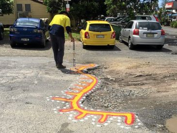Pothole Art - Byron Bay