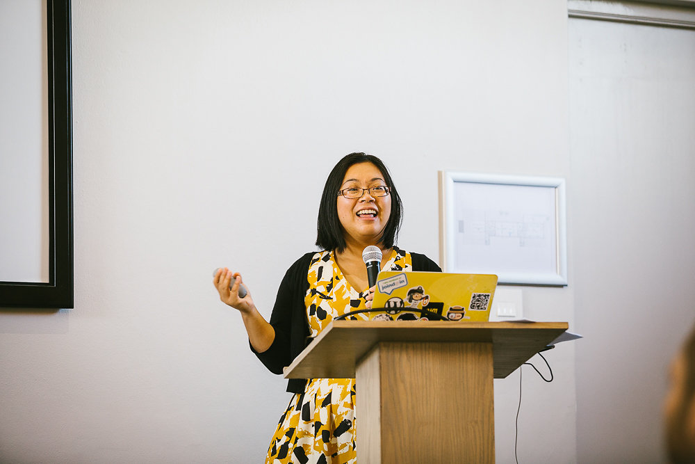 Jenny Wong speaking at WordCamp Cape Town 2015