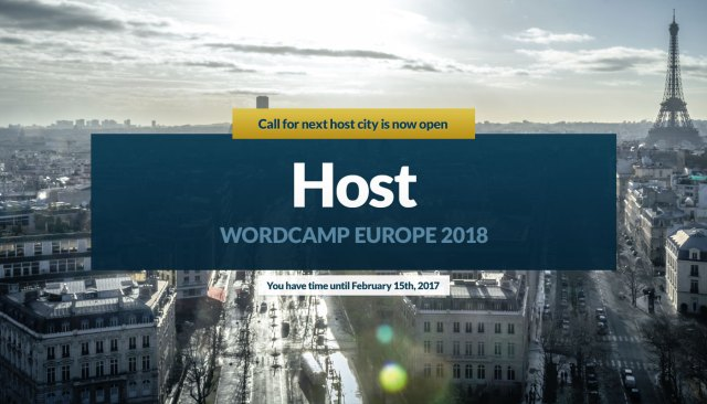Application process to choose host for WordCamp Europe 2018 is now open
