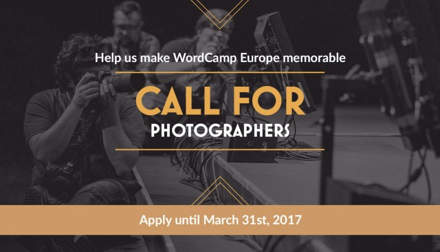 Help us make WordCamp Europe memorable — Photo by Florian Ziegler