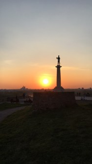 Kalemegdan fortress is surely a place where you will enjoy Belgrade sunsets