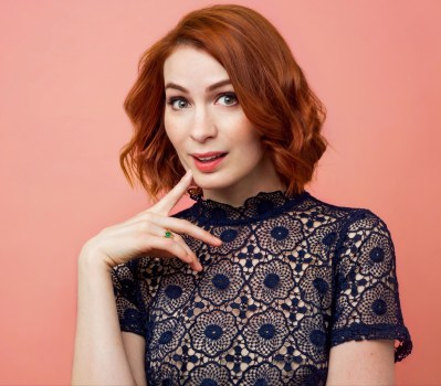Photo of keynote Felicia Day smiling