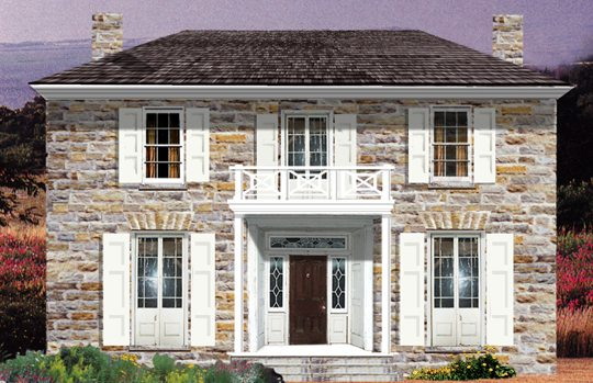 Vintage stone home from Tradition Design Inc.