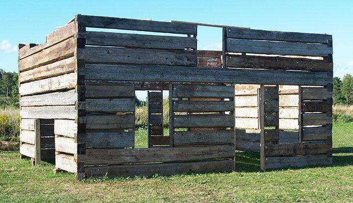 Vintage log house plans.