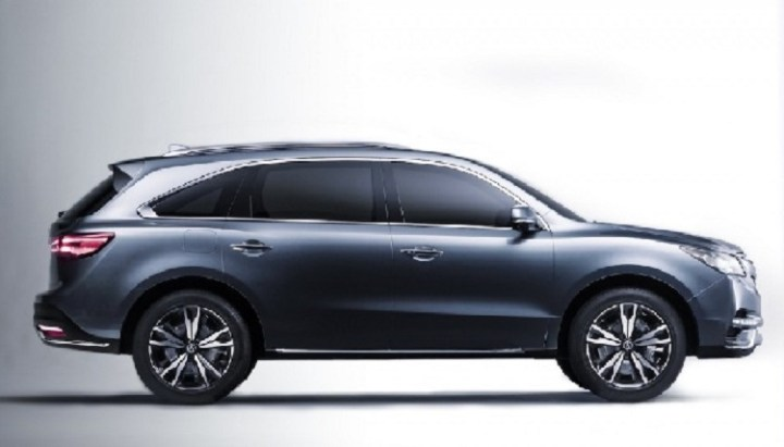2017 Acura MDX side view