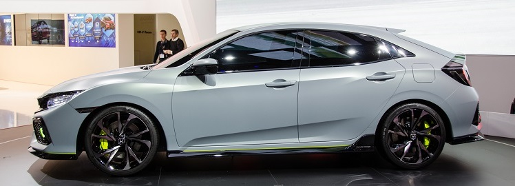 2018 Honda Civic Coupe side view
