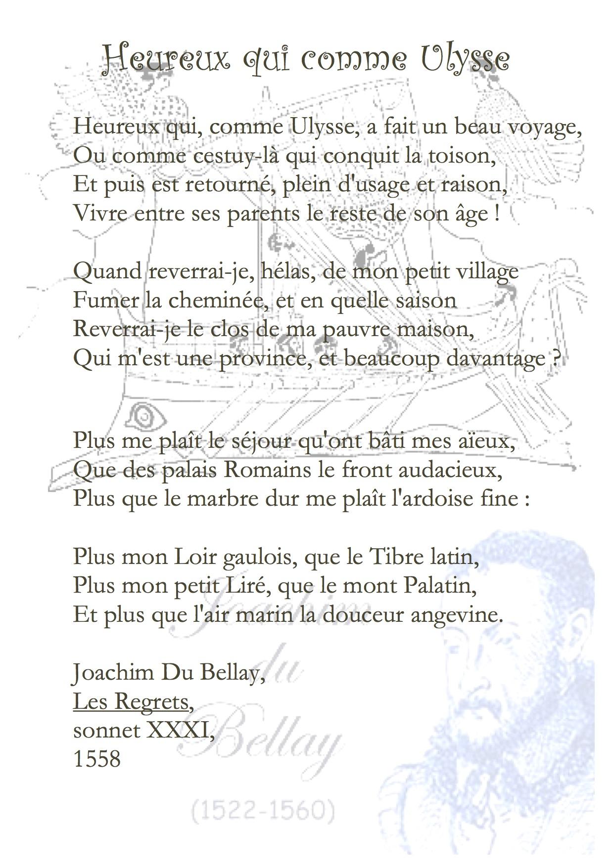 Heureux Qui Comme Ulysse Texte : heureux, comme, ulysse, texte, Heureux, Comme, Ulysse