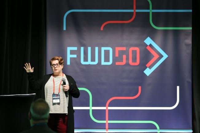 Une conférencière de FWD50 2017