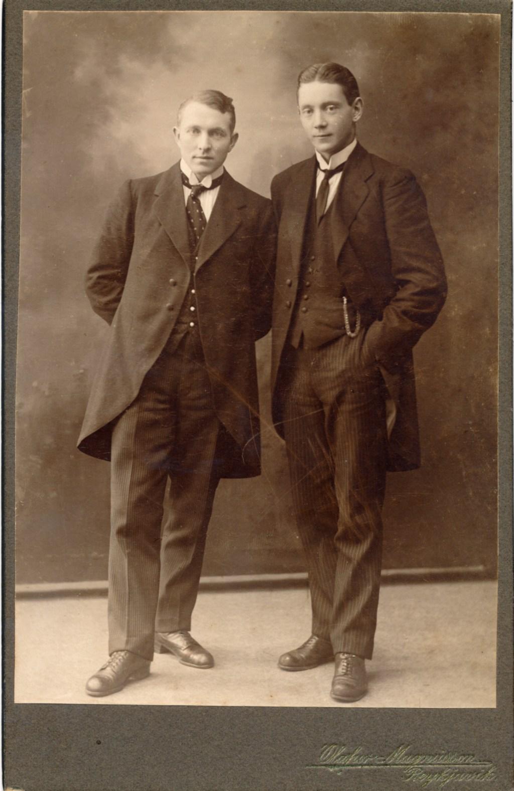 Helgi Ásgeirsson og Friðjón Jónsson.