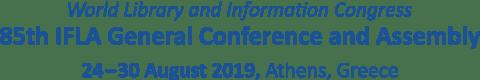 IFLA WLIC 2019 | Athenes | Greece | 24-30 August 2019
