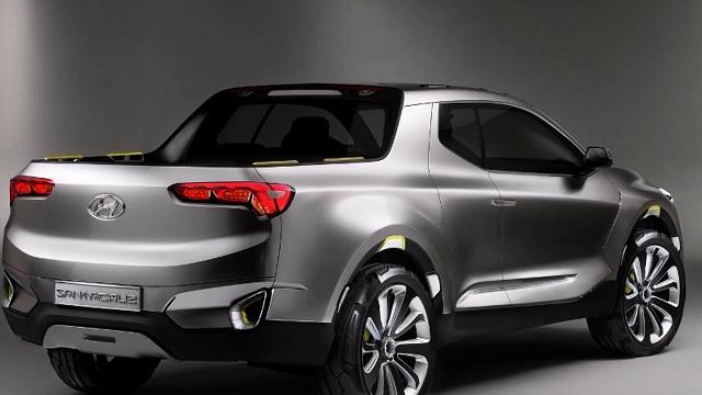 2019 Hyundai Santa Cruz Pickup rear view