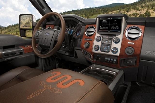 2019 Ford F250 King Ranch interior