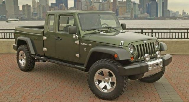 2020 Jeep Wrangler Pickup Truck front