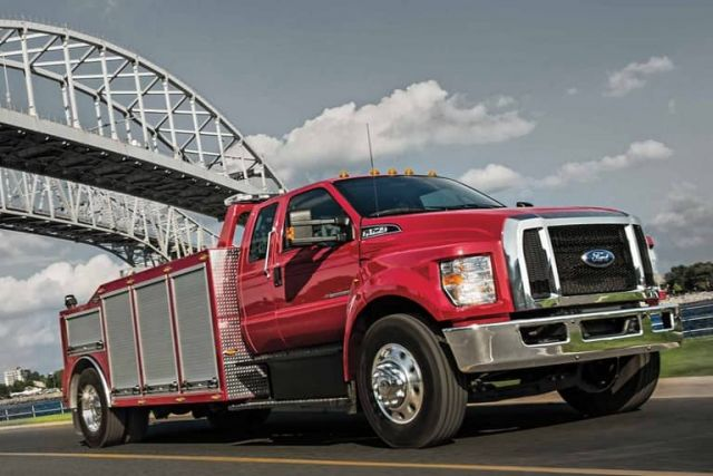 2020 Ford F-750 side